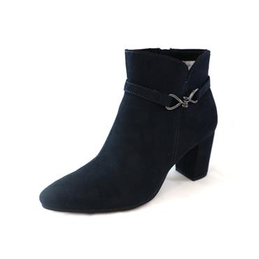 14 MARCO TOZZI BLOCK HEEL ANKLE BOOT - NAVY