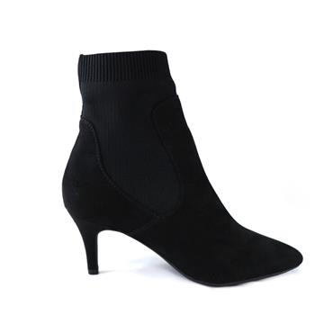 16 MARCO TOZZI SOCK EFFECT ANKLE BOOT - BLACK
