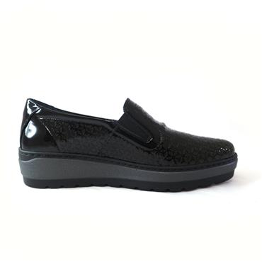 6 NOTTON SLIP ON PLATFORM SHOE - BLACK
