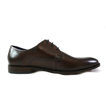 3 BUGATTI MILKO DARK BROWN FORMAL SHOE - BROWN