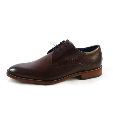NO6 FORMAL LACED PLAIN SHOE - BROWN