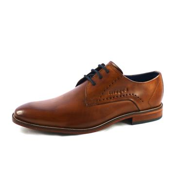 NO10A FORMAL PLAIN LACED SHOE - COGNAC