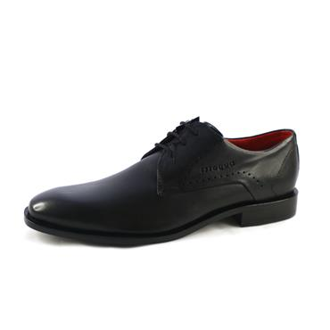 NO10 FORMAL LACED PLAIN SHOE - BLACK