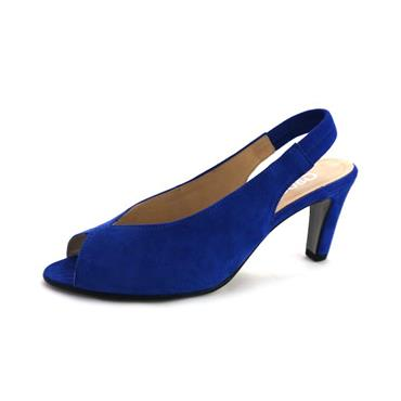 NO83 GABOR ROYAL SLING BACK HIGH HEEL - BLUE