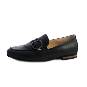 87A GABOR MIDNIGHT MOCASSIN W/ BUCKLE - NAVY