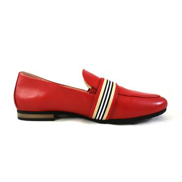 92 GABOR RED/GOLD WITH BUCKLE - RED