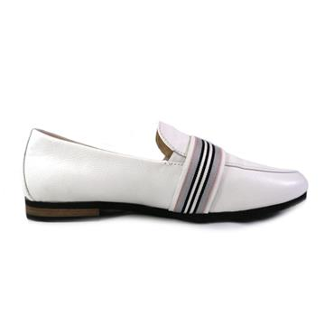87 GABOR WEISS MOCASSIN WITH BUCKLE - WHITE