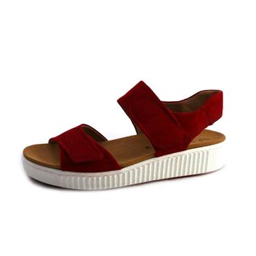 NO91 GABOR RUBIN LOW WEDGE SANDAL - RED