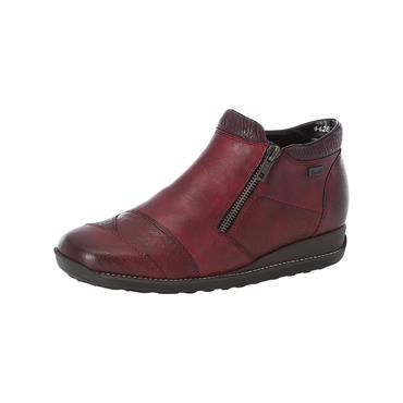 71 RIEKER ANKLE BOOT W/ZIP - WINE