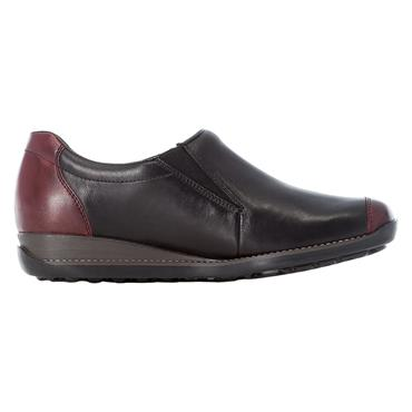 77 RIEKER CASUAL SHOE W/ZIP - BLACK