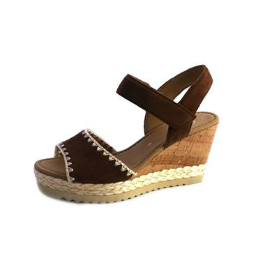 NO72 GABOR HIGH WEDGE SANDAL WHISKEY - BROWN
