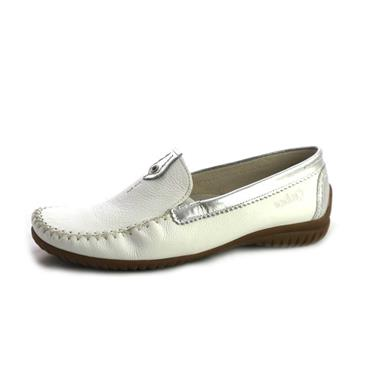 NO67B GABOR WEISS SILBER MOCASSIN - WHITE