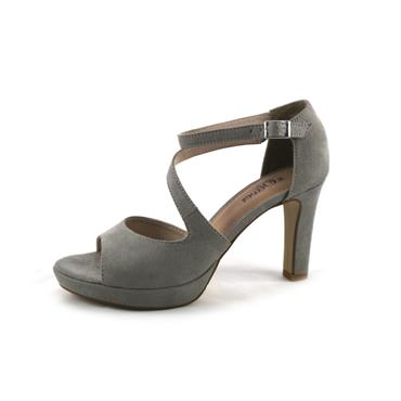 NO5A S. OLIVER LIGHT GREY DRESS SANDAL - GREY