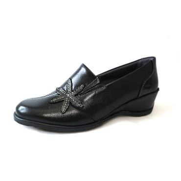 5 SUAVE HENNA SLIP ON W/ FLOWER - BLACK