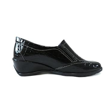 11 SUAVE ROSEBUD BLACK SLIP ON - BLACK