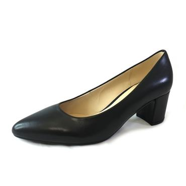 39 GABOR BLACK COURT W/ BLOCK HEEL - BLACK