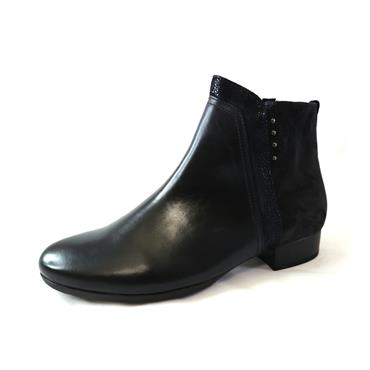 67 GABOR NAVY  LOW ANKLE BOOT - NAVY