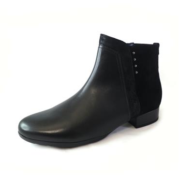 50 GABOR CARUSO LOW ANKLE BOOT W/ ZIP - BLACK
