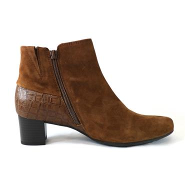 78 GABOR KINGSLEY WHISKY A/ BOOT W/ ZIP - BROWN