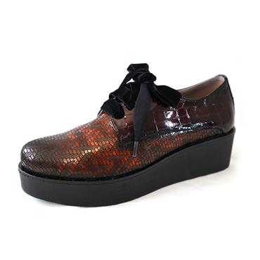 3 JOSE SAENZ PLATFORM LACED SHOE - MULTICOLOURED
