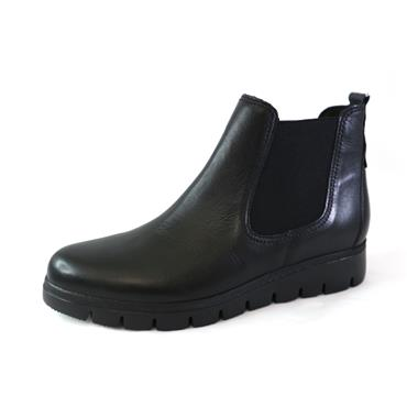 89 GABOR CASUAL SLIP ON ANKLE BOOT - BLACK