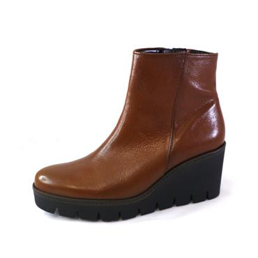 84 GABOR NAPPA WHISKY WEDGE ANKLE BOOT - BROWN