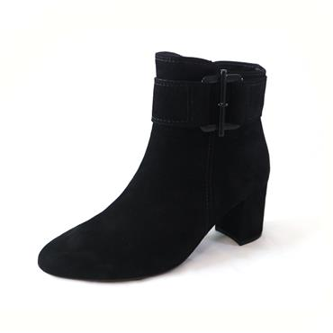 34 GABOR VIEW ANKLE BOOT W/ ZIP - BLACK