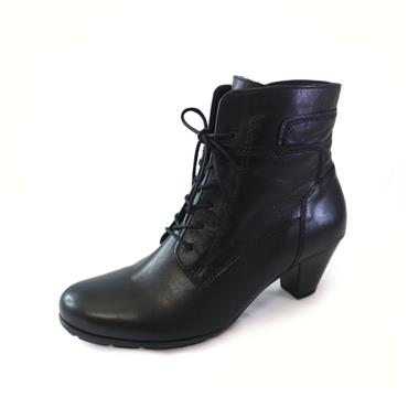 35 GABOR NATIONAL LACED ANKLE BOOT - BLACK