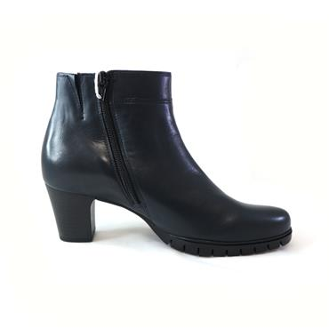 44 GABOR HERO ANKLE BOOT W/ ZIP - NAVY