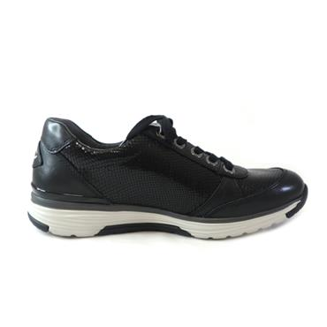 33 GABOR COBRA LACED TRAINER - BLACK