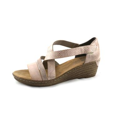 NO54 RIEKER WEDGE SANDAL - CROSS STRAPS - ROSE