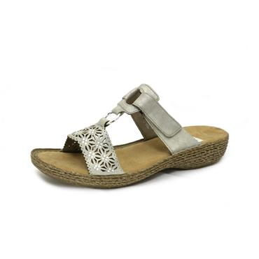 NO 32 RIEKER GREY SANDAL WITH STONES - GREY