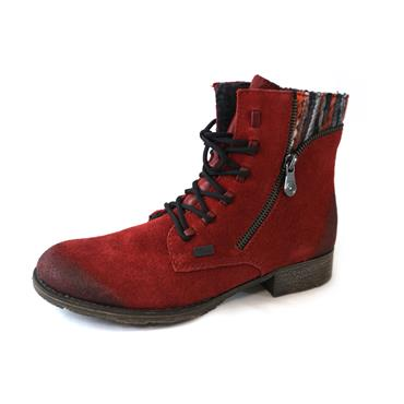 48 RIEKER RED/MULTI LACED BOOT - RED