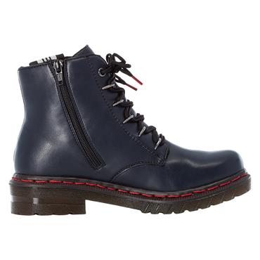 88 RIEKER OCEAN LACED ANKLE BOOT - BLUE