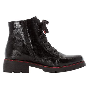 91 RIEKER FUR LINED ANKLE BOOT - BLACK
