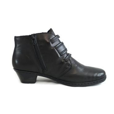 49 RIEKER BLACK BOOT WITH STRAPS - BLACK