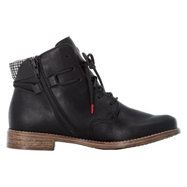 70 RIEKER LACED ANKLE BOOT - BLACK