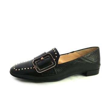 NO22 HOGL FLAT SHOE WITH BUCKLE - BLACK