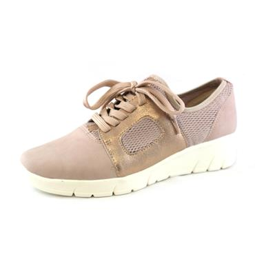 No15 JANA LACED ROSE RUNNER LOW WEDGE - ROSE