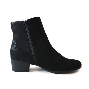 19 JANA SOFTLINE - BLACK ANKLE BOOT - BLACK