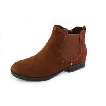 9A JANA SOFTLINE CHELSEA ANKLE BOOT - COGNAC