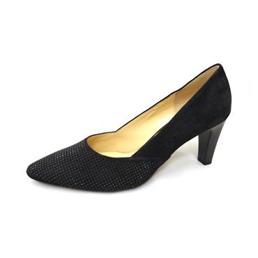 No59 GABOR COURT SUEDE STUDS - BLACK