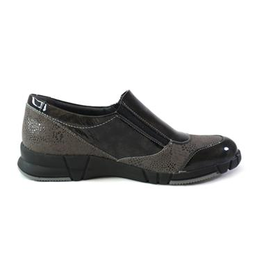 20 SUAVE - SLIP ON SHOE W/ ZIP - BLACK