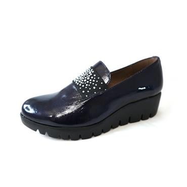 4A WONDERS WEDGE W/ SPARKLE - NAVY