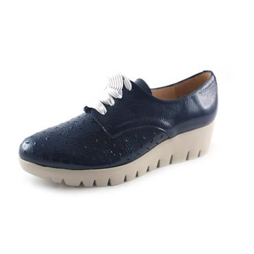 NO3A WONDERS LACED BALTIC SHOE - NAVY
