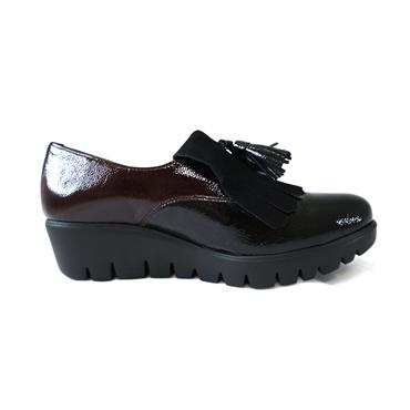 2 WONDERS BLACK & WINE SHOE - BLACK