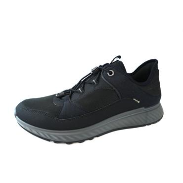 34 ECCO EXOSTRIDE LACED SHOE - BLACK