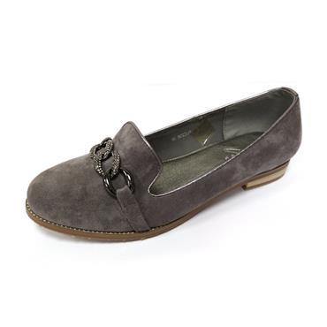 14 LUNAR SPLENDID LOAFER W/ BUCKLE - GREY