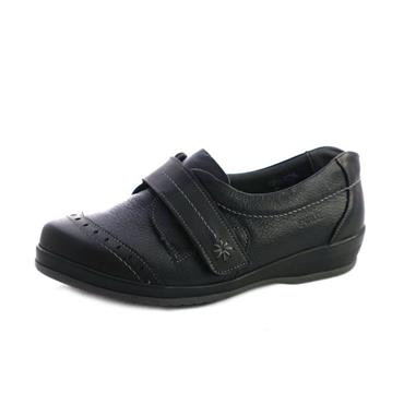 NO6 SUAVE GRACE WIDE FIT VELCRO STRAP - BLACK