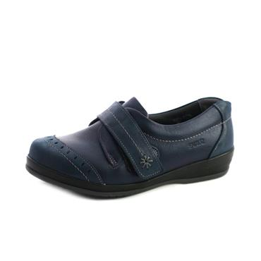 NO6A SUAVE GRACE  WIDE FIT VELCRO STRAP - NAVY